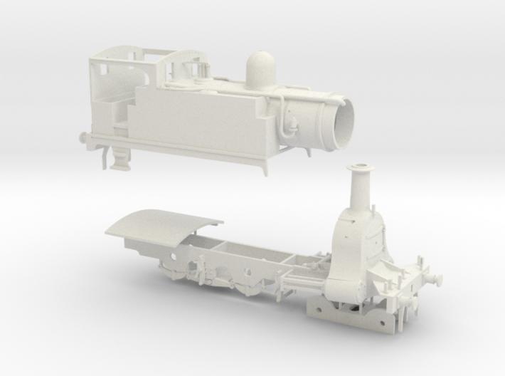 N. L. R. Outside cylinder 440 tank loco (Wide cab) 3d printed