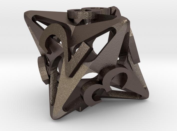 Pinwheel d8 3d printed