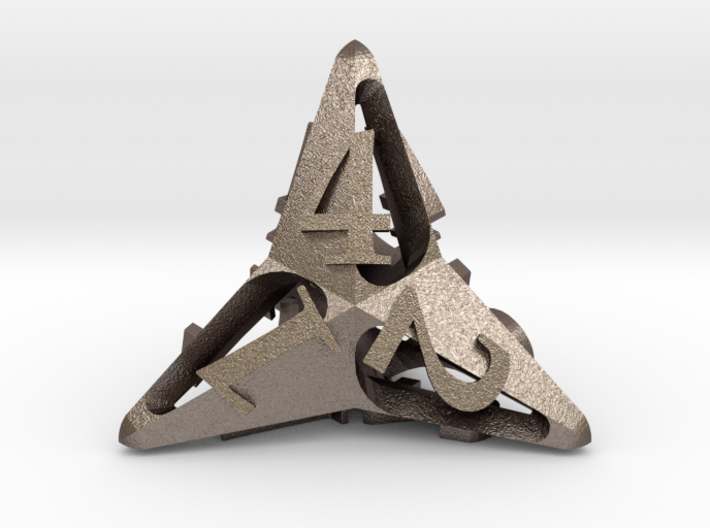 Pinwheel d4 3d printed