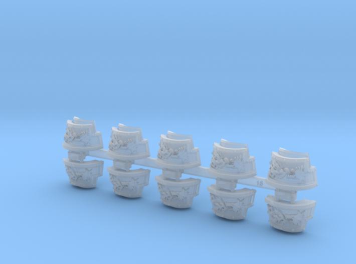 5x Firehowlers = Yaren Plate T:2 Shoulder Sets 3d printed