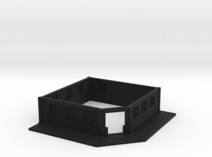 HO Scale Saloon Empty- Bottom Floor 3d printed