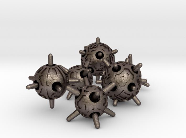 Sputnik Dice Set 3d printed