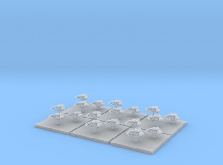 Fighters (6) (Tall) 3d printed