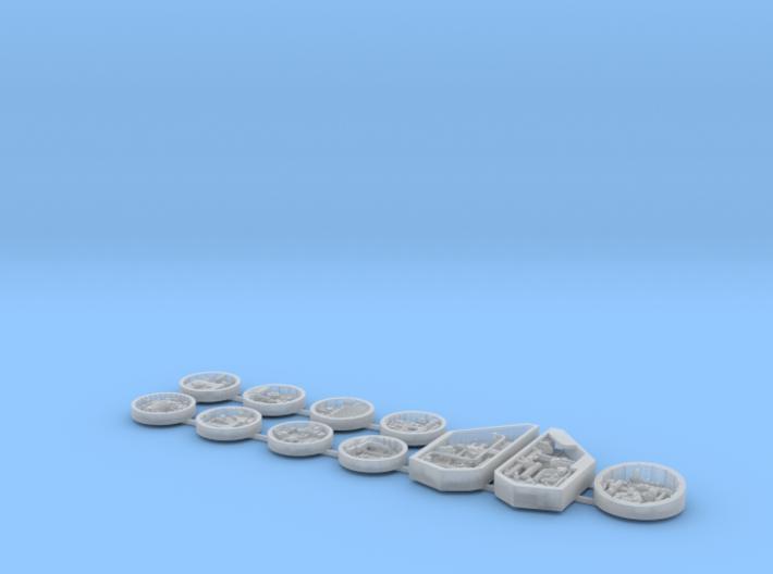 Bandai Falcon Maintenance Pits, 1:144 3d printed