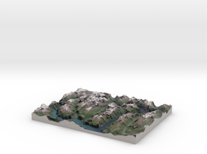 Geirangerfjord / Geirangerfjorden Region, Norway 3d printed