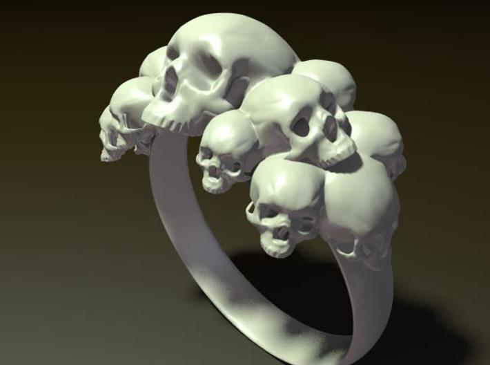 Skull Ring Size 9 3d printed