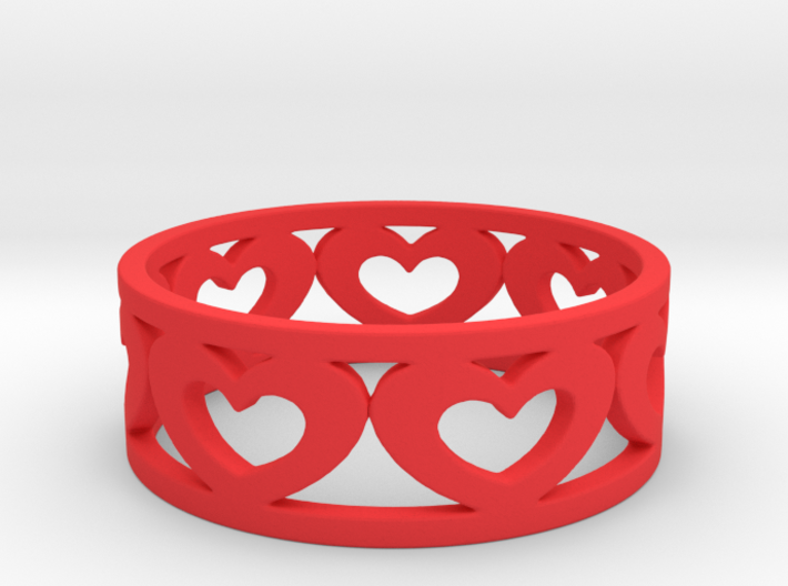 Heart Ring 7 1/2 Ring 3d printed
