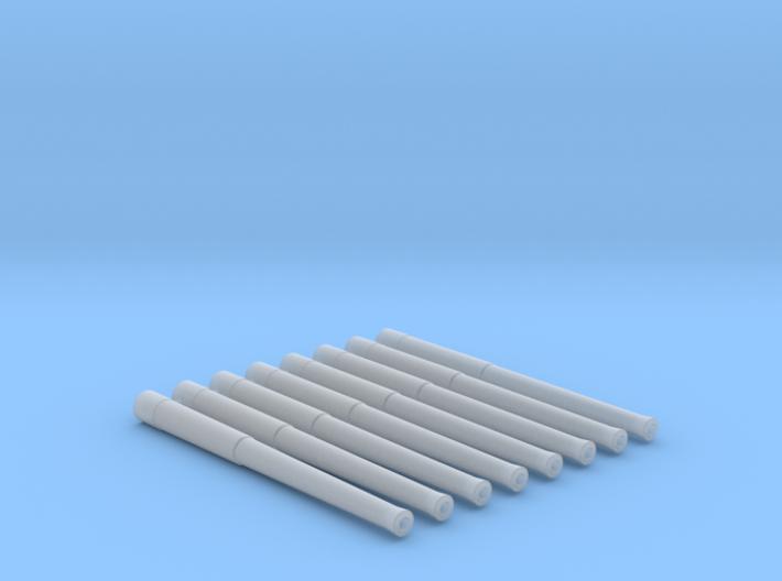 "1/144 Scale 13.5""/45 (34.3 cm) Barrels x8 3d printed 1/144 Scale 13.5""/45 (34.3 cm) Barrels x8"