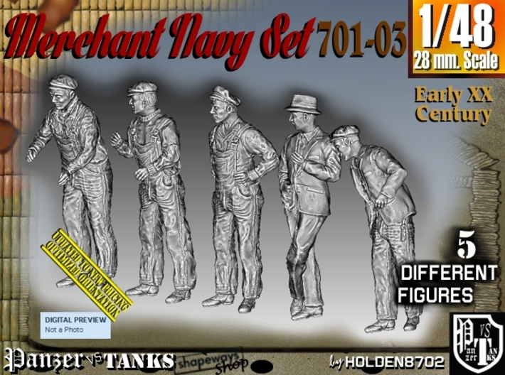 1/48 Merchant Navy Set 701-03 3d printed