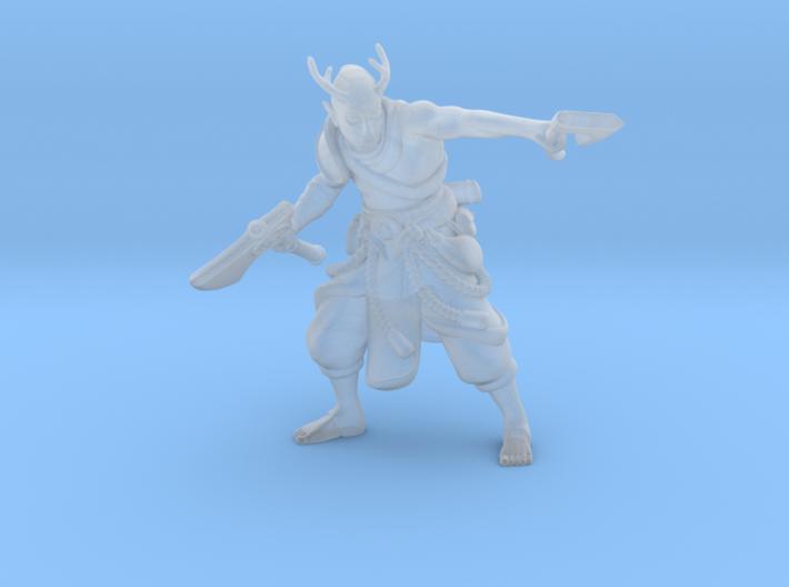 Elf w/ Axes 3d printed
