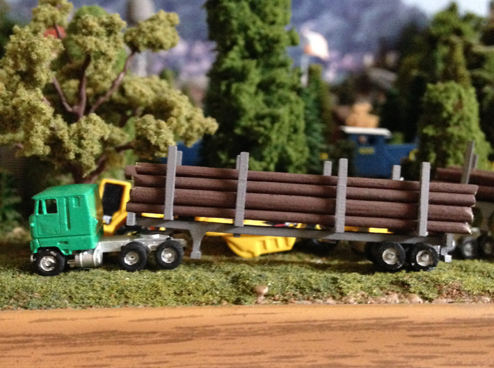 Logging Bunks For Trailers 3d printed Log Bunks with Stonysmith's 40' Trailer