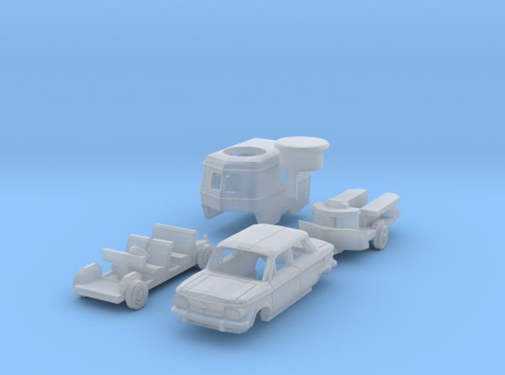 SET NSU Prinz 1000 & Eriba Puck (N 1:160) 3d printed