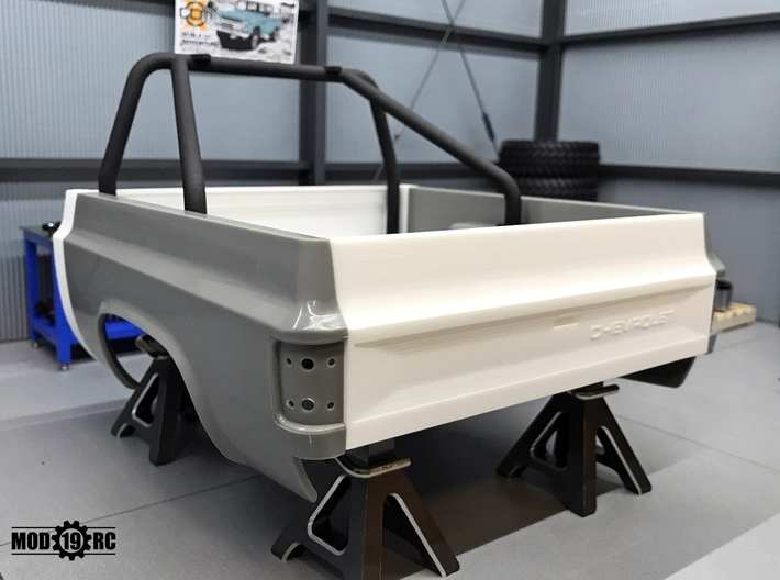 Tailgate - Late - GMC for RC4WD Blazer 3d printed Late Chevy version shown