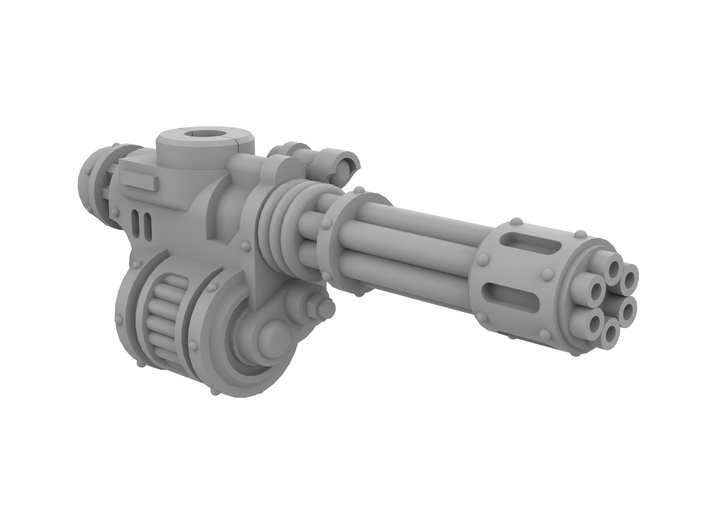 Mini Knight - Rotary Gun (Right side) 3d printed