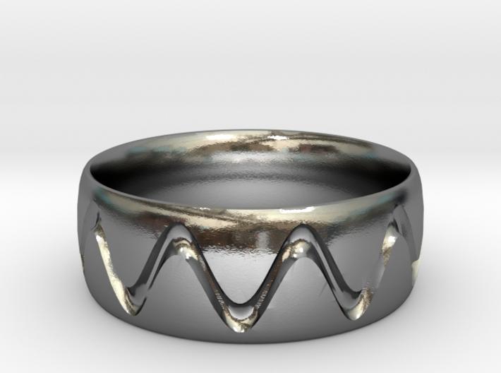 Sine Wave Ring 3d printed