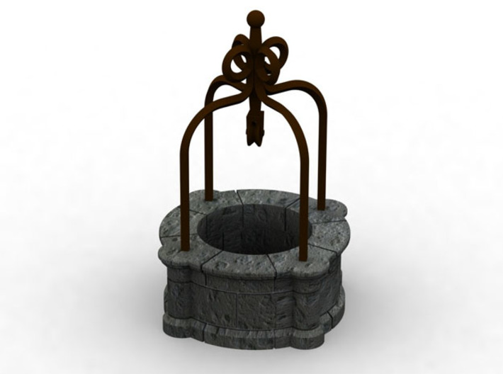HOF070 - Big well of the castle. 3d printed