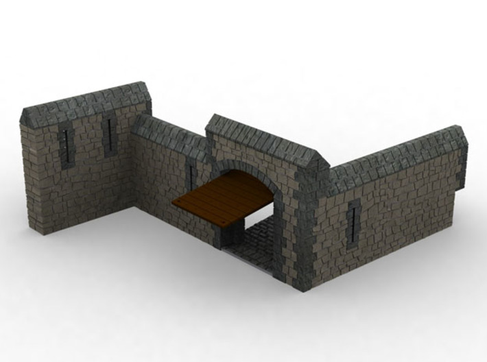 HOF082 - Barbican for the castle. 3d printed
