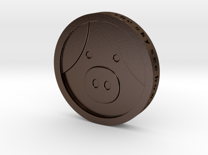 Pig Coin 3d printed