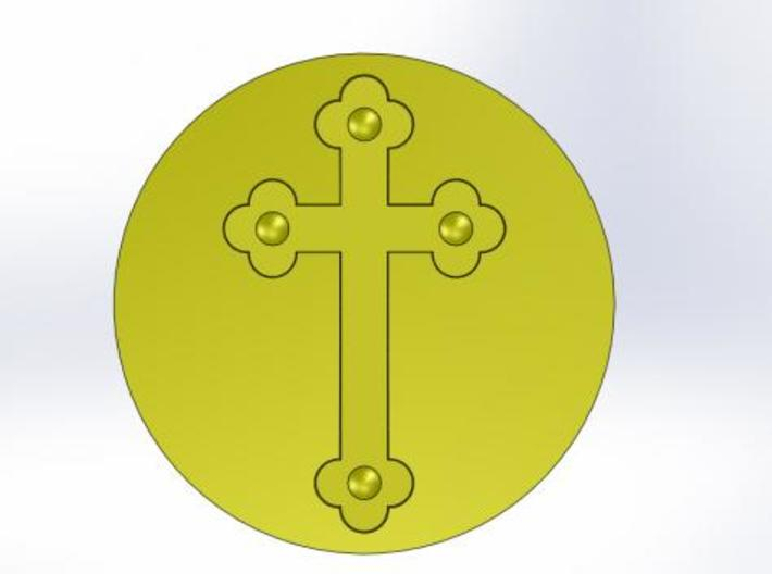 Cross Wax Seal 3d printed What the wax will look like