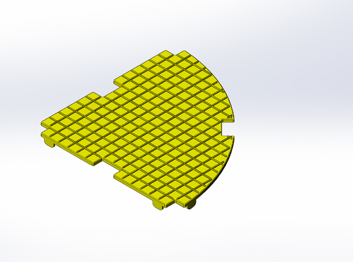 Rokenbok Curved Deck Plate, Squares 3d printed