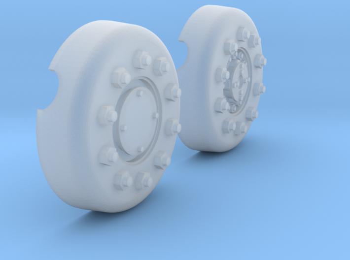 1/18 Dragon Wagon Wheel Center Set101 3d printed