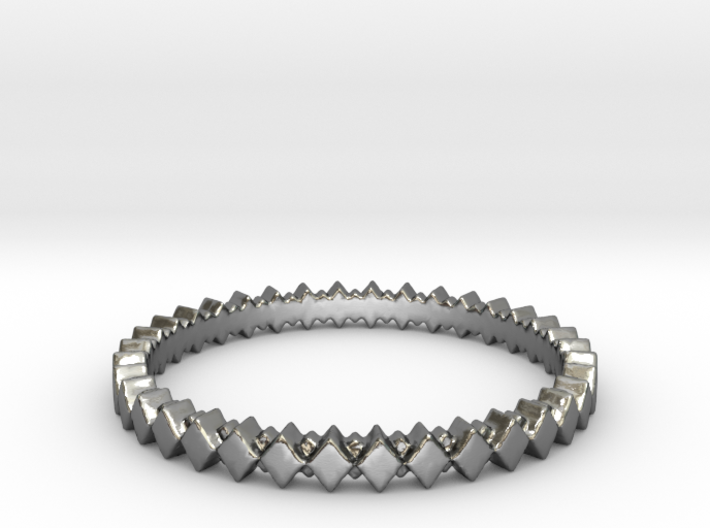 Rhombus Double Layer Band Ring 3d printed