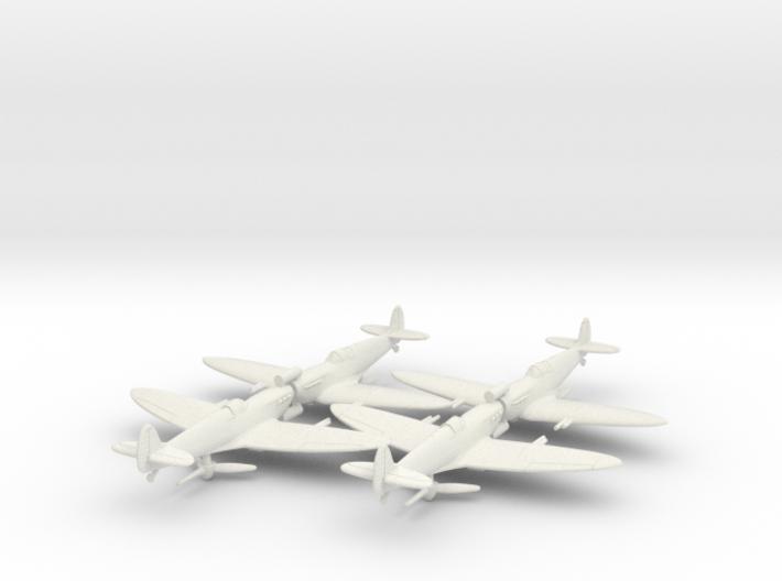 1/200 Spitfire MK VC x4 3d printed