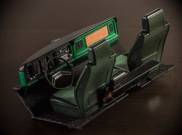 RCN093 Dashboard elements for Ford F150 79 P-L 3d printed