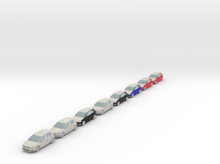 8 Wrapped cars (N 1:160) 3d printed
