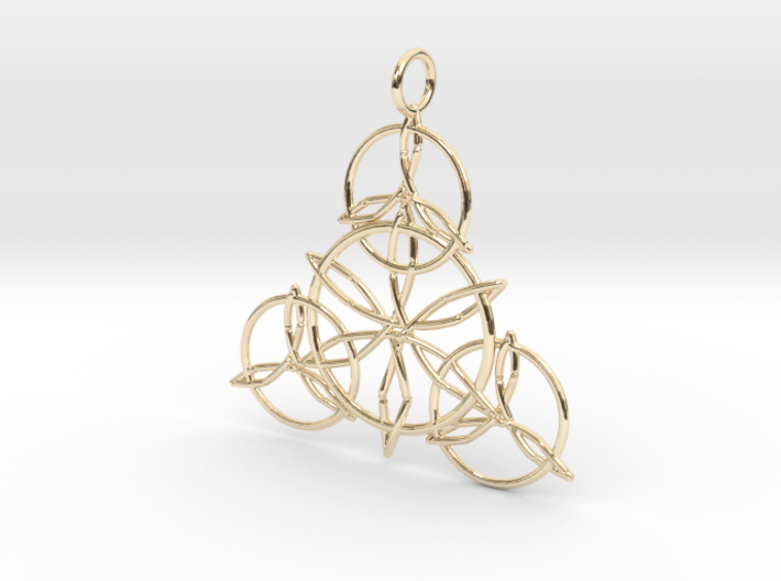 Celtic Knots Pendant 3d printed