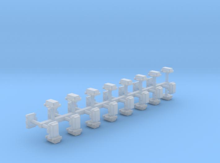 Kabelverteiler groß 32erSet 1:120 TT 3d printed
