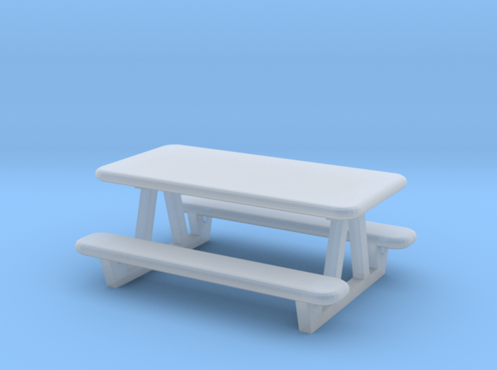 picnic table N scale 3d printed