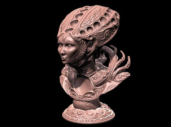 The Dune Queen 3d printed Rendered with actual poly count