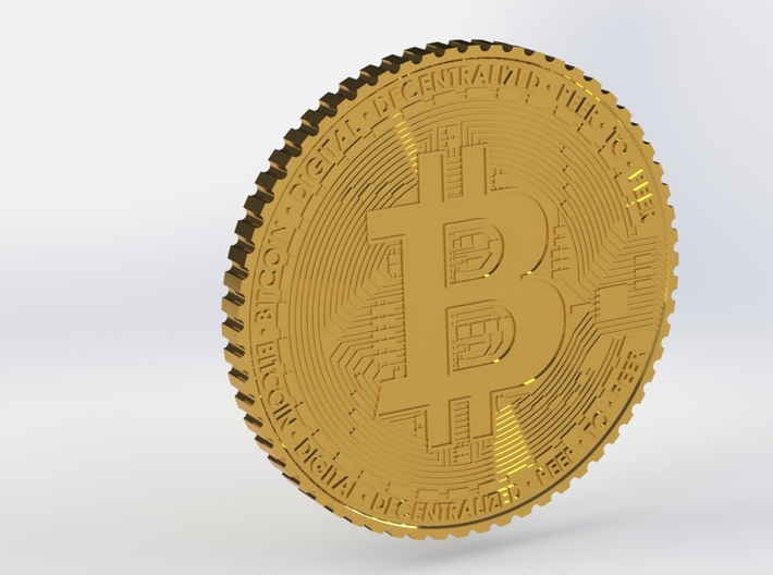 Bitcoin Coin #1 3d printed