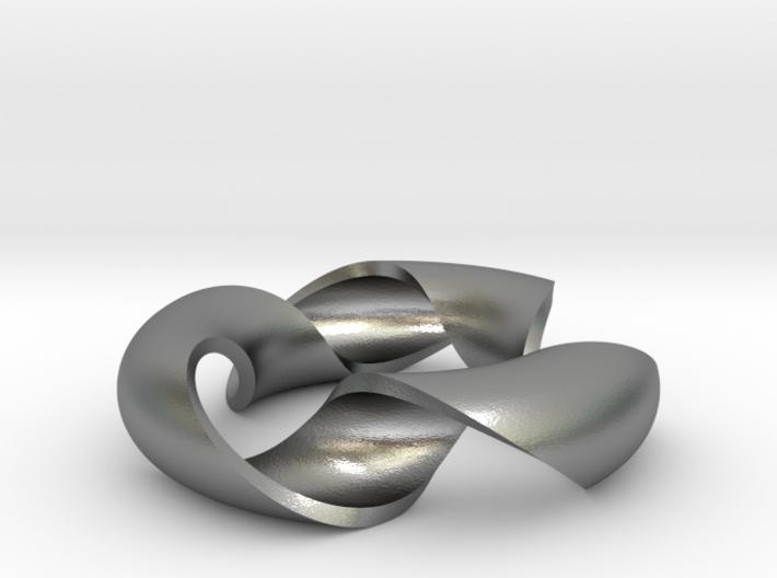 pendant toroidal geodesic shell 1 3 3d printed