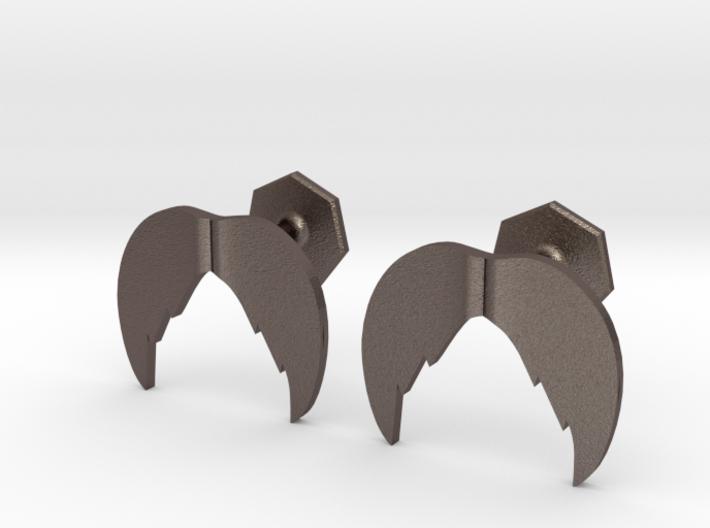 Scruffy Mustache Cufflinks 3d printed
