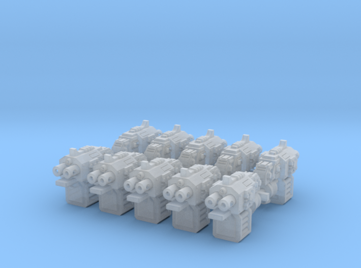 10x Xenos Hunters: BlitzPistol (5 Left & 5 Right) 3d printed