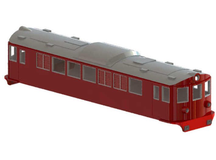 Swedish SJ electric locomotive type F - N-scale 3d printed CAD-model