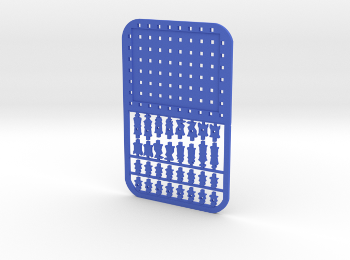 Credit Card Chess Set 3d printed