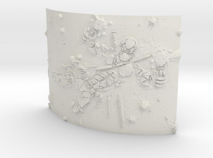 deadpool Curved Lithophane 3d printed