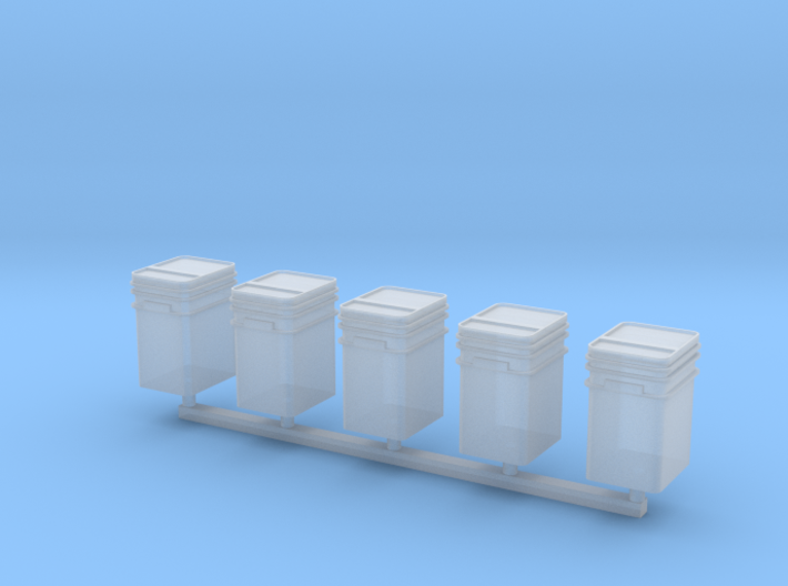 1/64 or S Scale Talc Buckets-5 3d printed