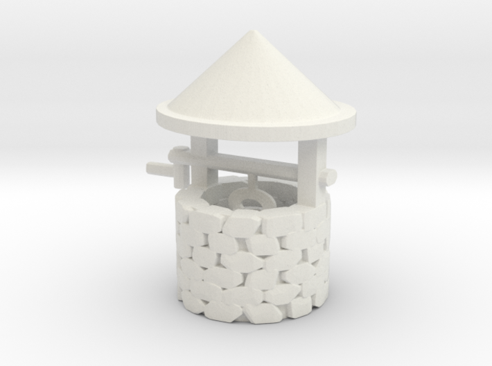 O Scale Wishing Well 3d printed This is a render not a picture