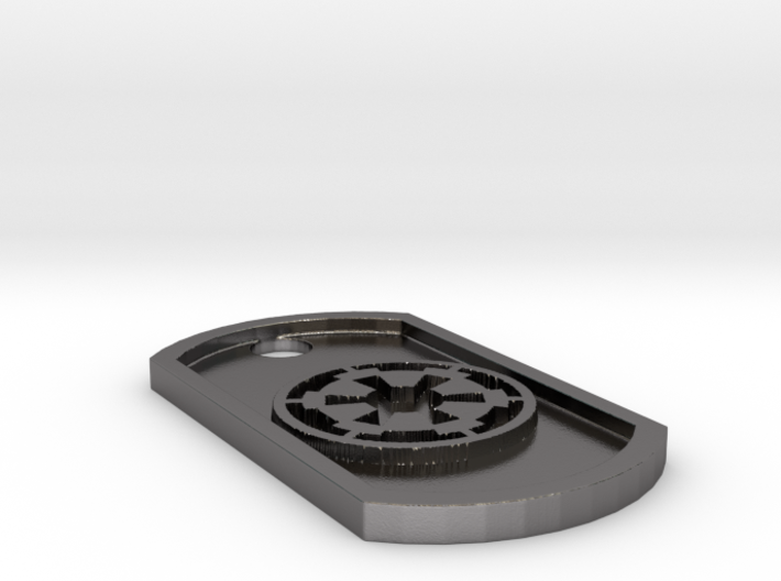 Star Wars Imperial Seal Themed Dog Tag 3d printed
