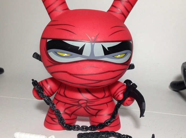 "Karasigama weapon for 8"" inch dunny ninja weapon 3d printed"