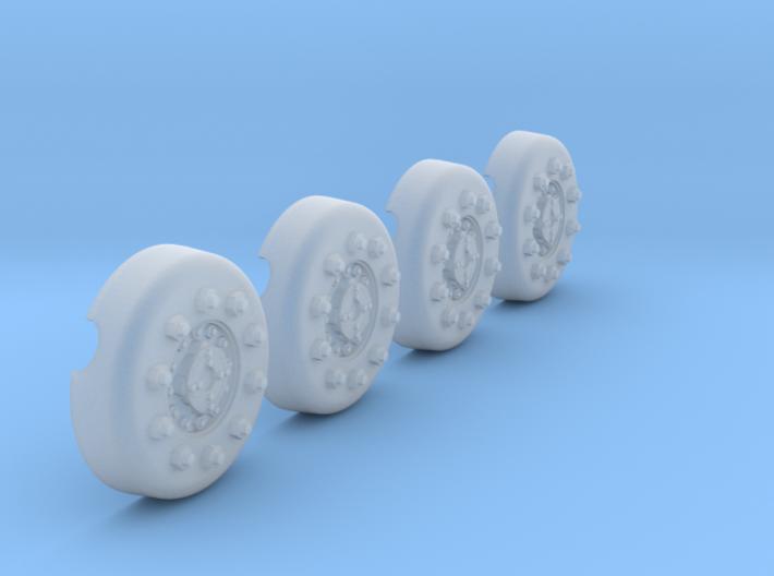 1/18 Dragon Wagon Wheel Center Set105 3d printed