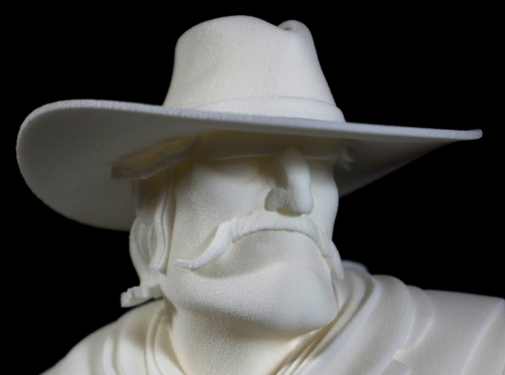The Gunfighter (Large) 3d printed Close up of head