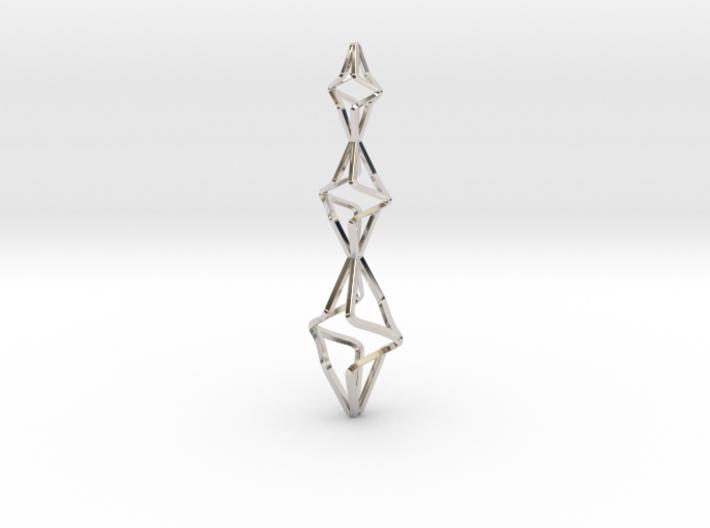 TRISTAR, Pendant. Big Bold Strong 3d printed