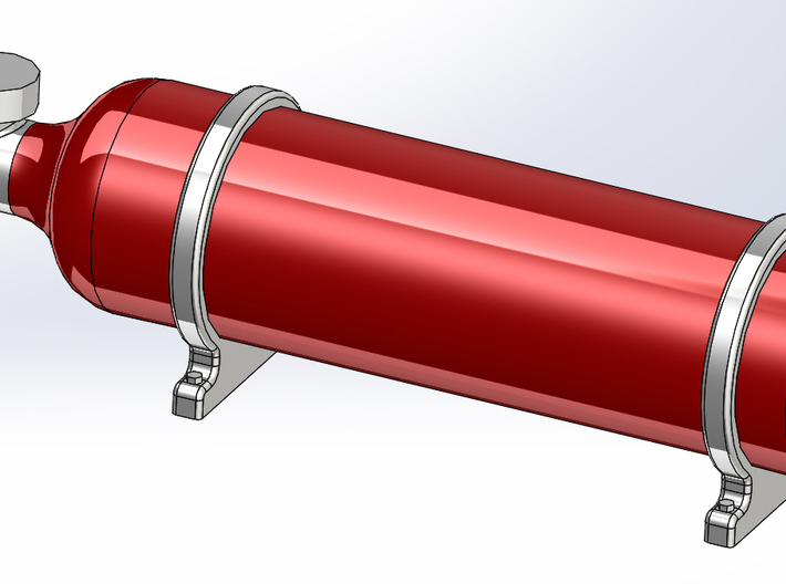 1/16 Fire Suppression Bottle 3d printed