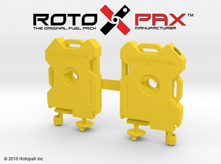 TR10019 TRX-4 RotopaX door mount YELLOW 3d printed
