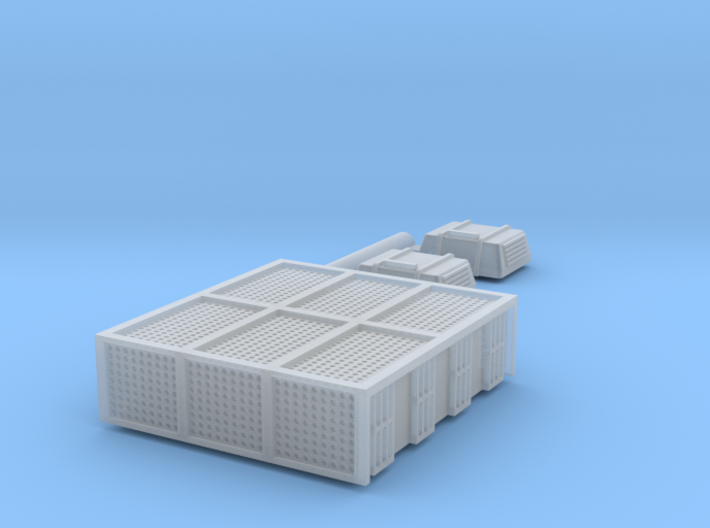 N Scale AEM7 Loco Roof Detail Set 3d printed